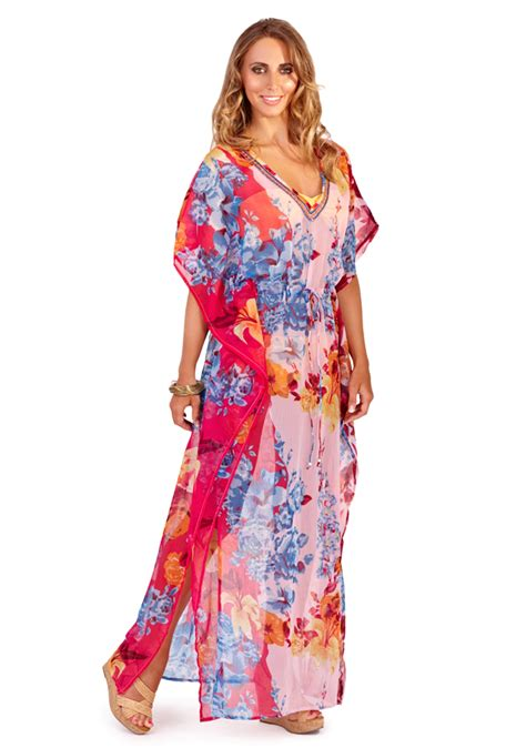 Chaftan Maxi Chiffon womens chiffon kaftan tunic cover up maxi dress