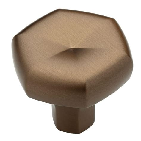 brushed bronze cabinet hardware liberty stratus 1 1 3 in brushed bronze cabinet knob