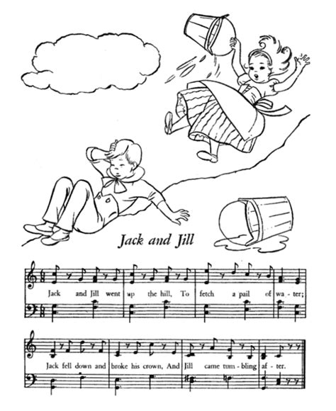 preschool coloring pages jack and jill jack and jill nursery rhyme printable
