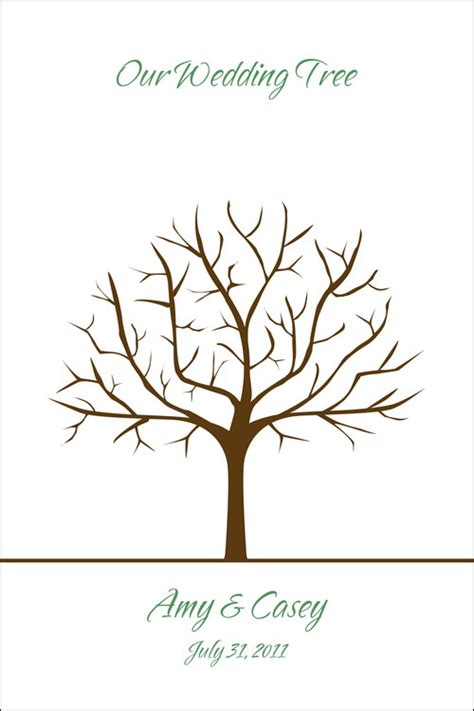 wedding tree guest book free template free printable fingerprint tree template quotes