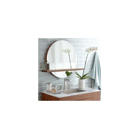 solace round bamboo mirror with shelf mc222 native trails native trails msh222 woven strand bamboo solace 22 quot woven