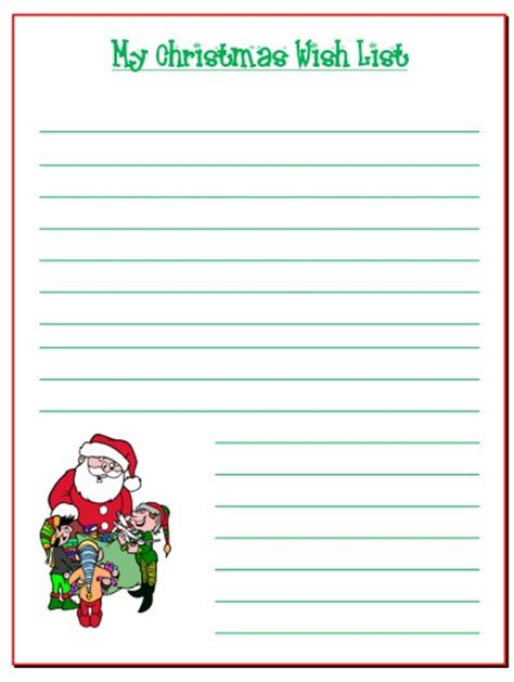 santa wish list template search results for santa claus wish list template