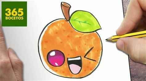 imagenes de naranjas kawaii como dibujar naranja kawaii paso a paso dibujos kawaii