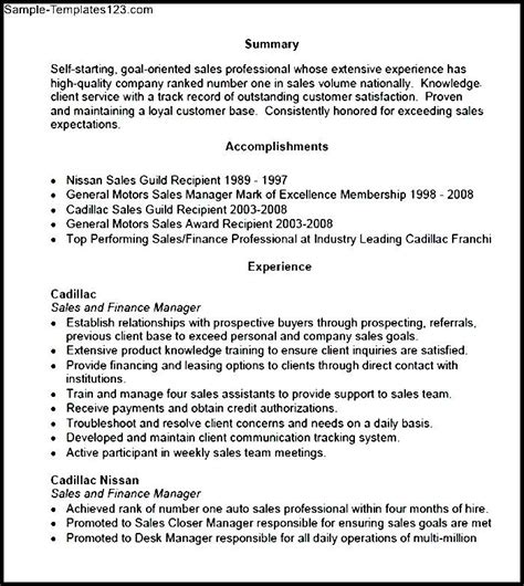 Resume Sles Pdf Sales Manager Sle Resume Panoramic Resume Pdf Sle Templates