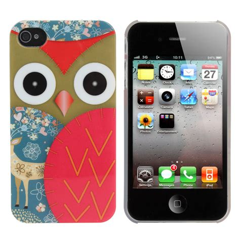 Casing Iphone 4 4s A Beautiful Mess App Custom Cover colorful owl plastic back skin cover for iphone 4 4s us 1 73