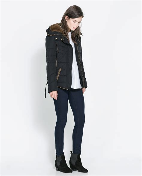 Zara Quilted Jacket With by Zara Quilted Jacket With In Black Lyst