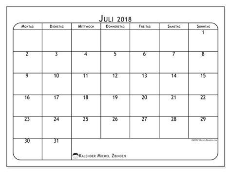 Kalender 2018 Juli August Kalender Juli 2018 51ms