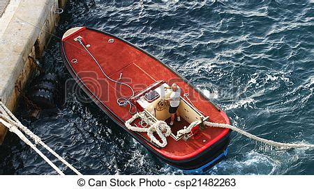boat launch rope launch motorboat with ropes of tie boat mooring ropes on