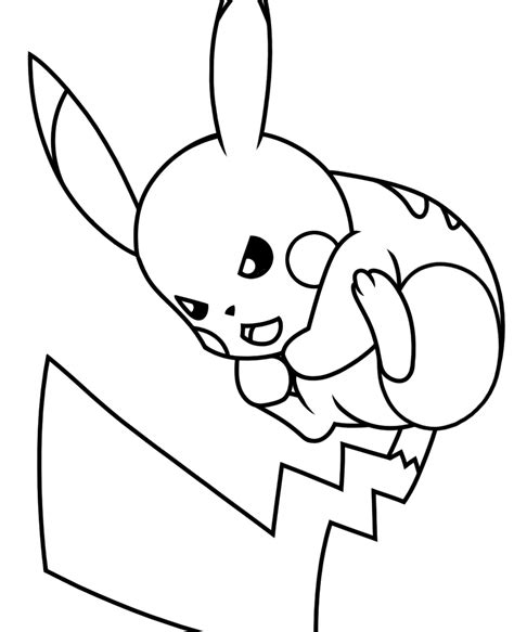 pikachu face coloring pages free coloring pages of pikachu face