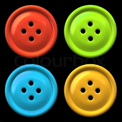 Home Design Plans 30 50 by Four Colourful Buttons For Clothing Isolated On Black