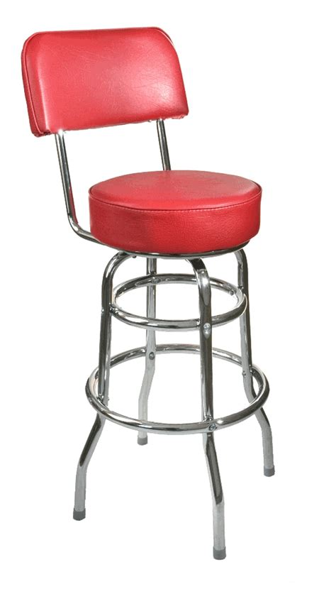 chrome bar stools with back double ring chrome bar stool with back and choice of red