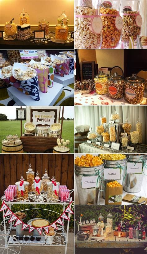 good themed events popcorn bar good idea for a kids party or carnival