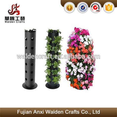 Flower Tower Freestanding Planter by Vertical Freestanding Metal Flower Tower Planter With 30 Holes For Planting Buy Tower Planter