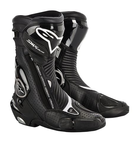 mens black motorcycle riding boots 180 21 alpinestars mens smx plus boots 2014 197051