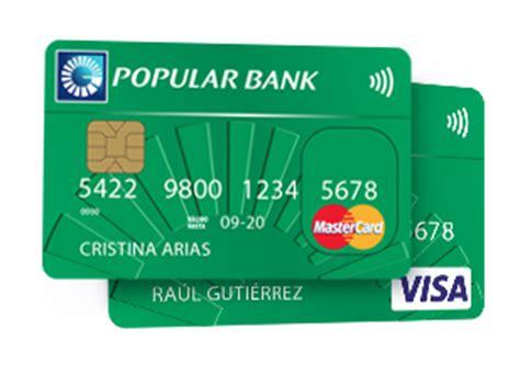 tarjeta visa banco popular banco popular tarjetas de credito y debito tokicredito