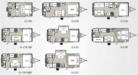 spree luxury lightweight travel trailer floorplans photos