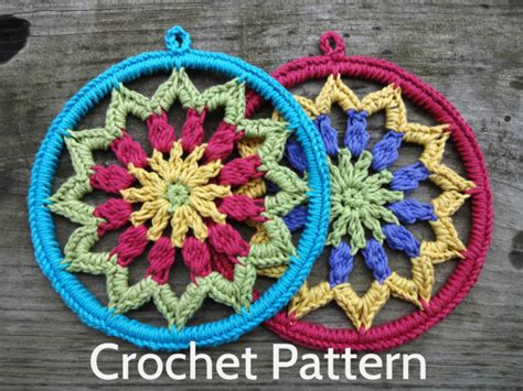 home decoration in crochet 25 colourful designs to brighten your home books pdf crochet pattern s mandala 6 inch