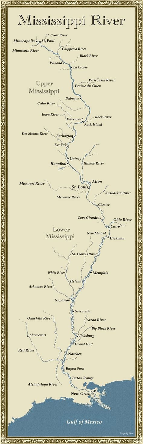 map of mississippi river maps united states map mississippi river