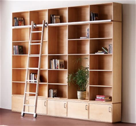 Rolling Ladder For Bookcase Carson Maddox Rolling Ladder Bookcase