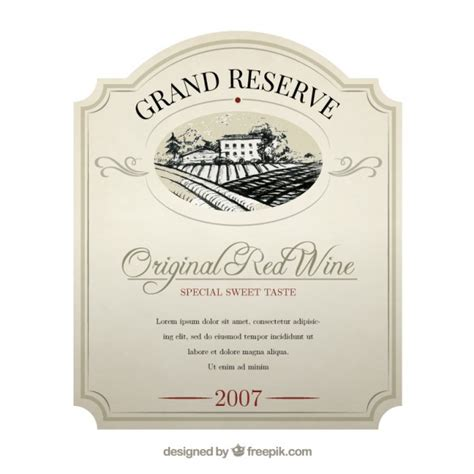 wine bottle label template word wine label vector free