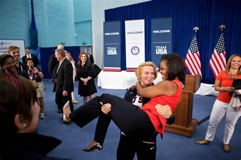 michelle obama in london file elena pirozhkova and michelle obama 2012 olympics
