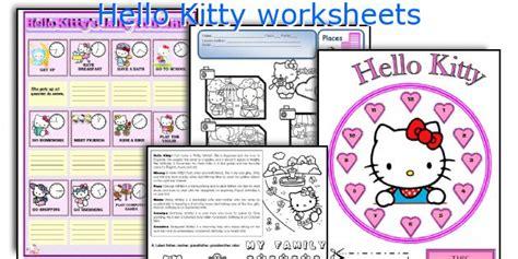 hello kitty printable activity sheets english teaching worksheets hello kitty