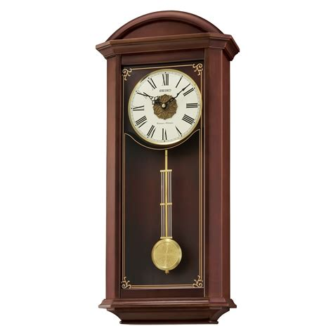 wall clocks with seiko qxh065blh wooden chime wall clock with pendulum