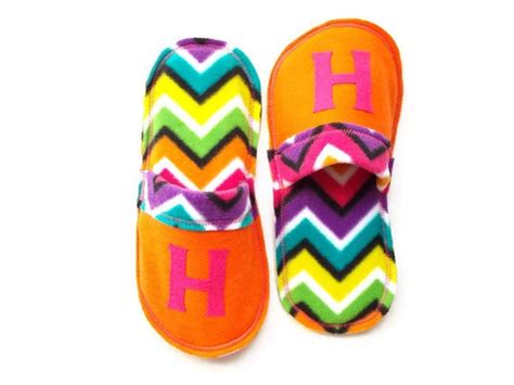 personalized house shoes chevron women slippers ladies personalized slippers