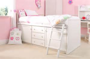 Kids cabin bed in white with slide pictures to pin on pinterest