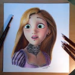 color drawing rapunzel color pencil drawing by atomiccircus on deviantart