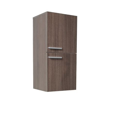 Linen Storage Cabinet Fresca Gray Oak Bathroom Linen Side Cabinet W 2 Storage Areas Burroughs Hardwoods Store