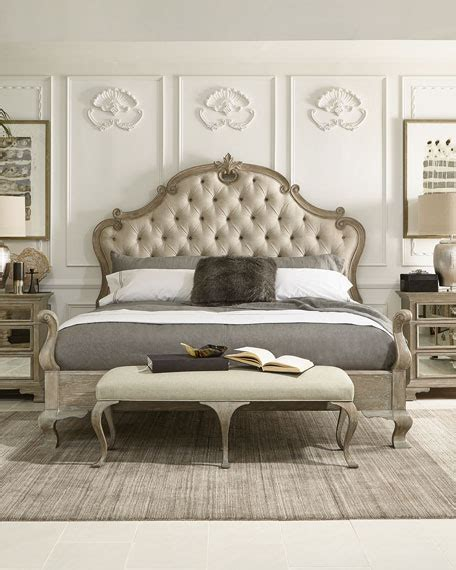 Bed Designer bernhardt ventura tufted king bed