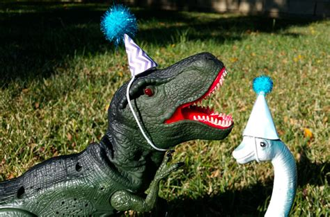 dinosaur party hats  sisters