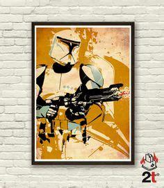 Poster A3 Wars Trooper wars inspired mace windu s 187th attack battalion