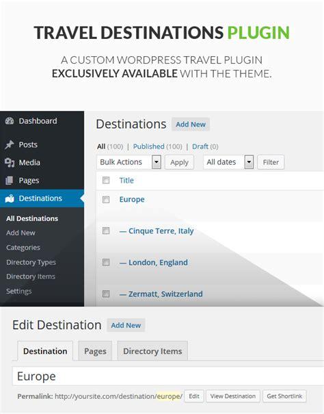 themeforest travel travel wordpress theme goexplore themeforest