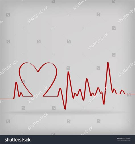 beats cardiogram on white background vector