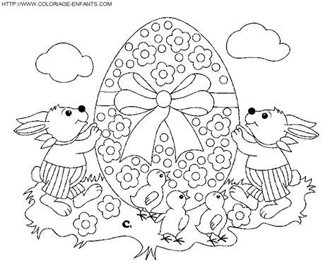 dessins de coloriage coco de paques  imprimer