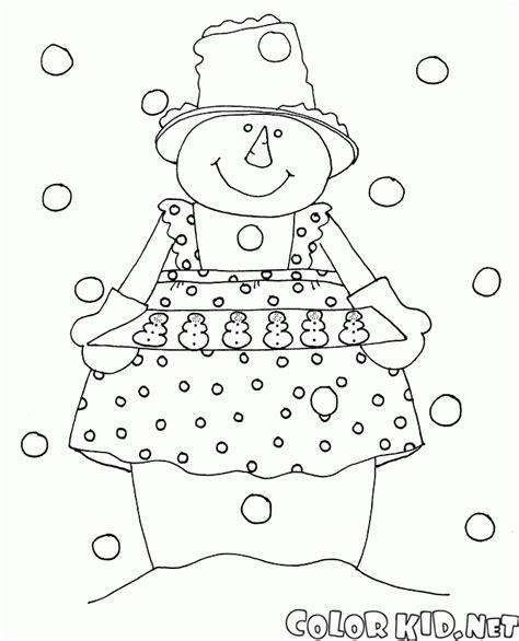 dibujos de navidad para colorear muñecos de nieve dibujo para colorear mu 241 eco de nieve del cocinero