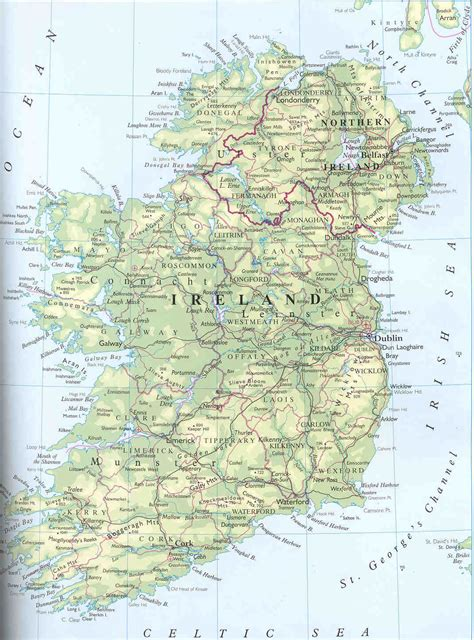 map ireland general map of ireland ireland general map vidiani maps of all countries in one place