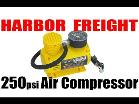 harbor freight 12v 250psi compact air compressor