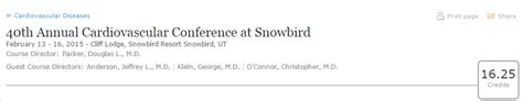 11th annual barnabas health cardiovascular symposium 40th annual cardiovascular conference at snowbird