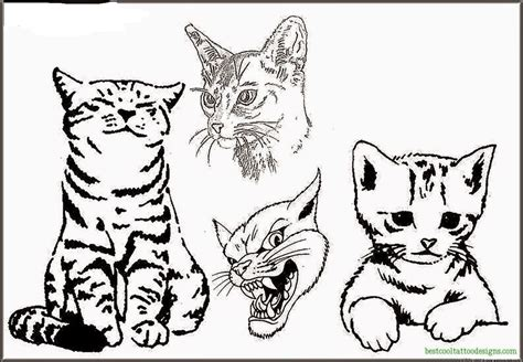 kitten tattoo designs cat designs flash best cool designs