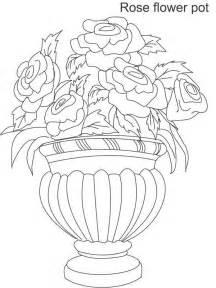 dibujos para colorear floreros 2 dibujos para colorear