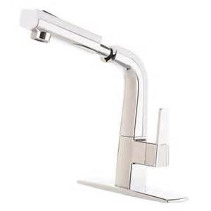 White Pull Out Kitchen Faucet by Cleanflo Matisse Single Handle Pull Out Sprayer Kitchen