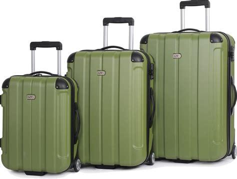centurion it luggage 3 piece hard sided suitcase set 2