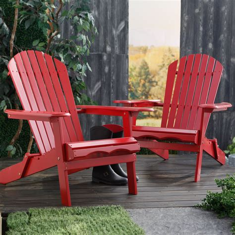 cape  foldable adirondack chairs red set   adirondack chairs  hayneedle