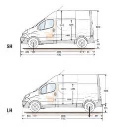 Renault Trafic Dimensions Renault Trafic Panel Weights Dimensions Loads