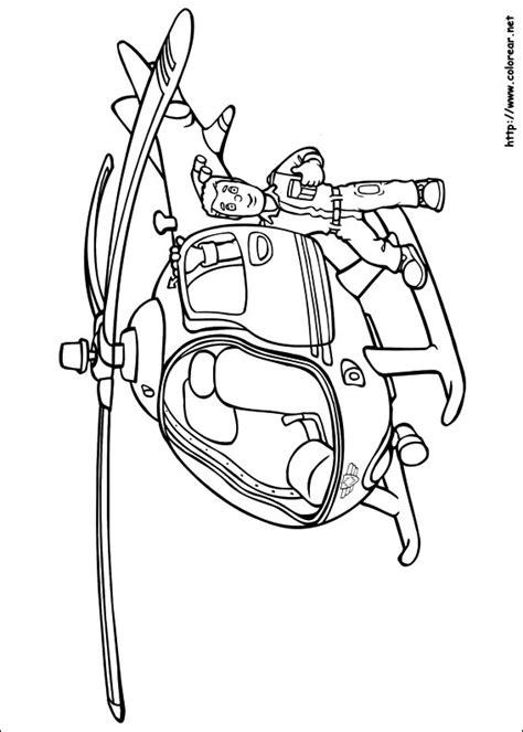 dibujos para colorear de sam el bombero