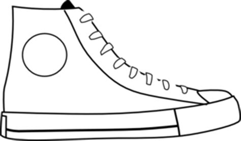 Pete The Cat Shoe Template by White Shoe Clip At Clker Vector Clip
