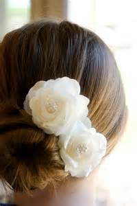 hair flowers wedding hair accessory ivory wedding hair flowers
